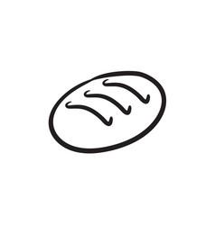 Loaf sketch icon vector