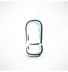 fridge grunge icon vector image
