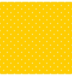 Tile pattern white polka dots on yellow background vector