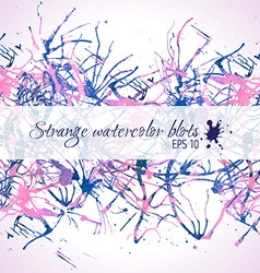 Abstract pink and blue watercolor blobs vector