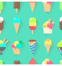 Ice cream collection seamless pattern vector