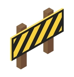 Traffic barrier isometric 3d icon vector