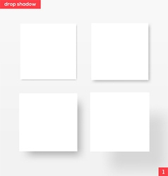White square banners with drop shadow vector