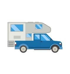 Ccaravan travel car vehicle trailer house summer vector image