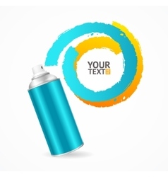Spray can write speech bubble vector