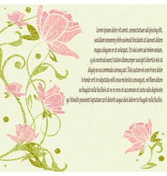 Floral romantic pattern vector image
