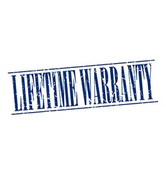 Lifetime warranty blue grunge vintage stamp vector