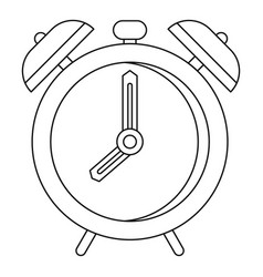 Alarm clock icon outline style vector