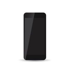 black realistic smartphone icon on white vector image vector image