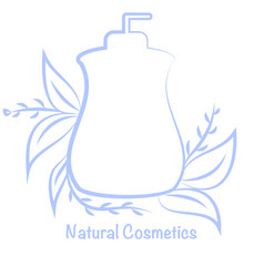Bottle for cosmetics template for cosmetic brand vector