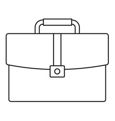 briefcase icon outline style vector image vector image