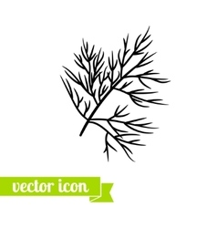 dill icon 1 vector image vector image