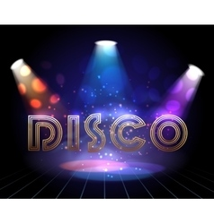 Disco background with spotlights vector image vector image