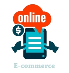 electronic commerce icon vector image vector image