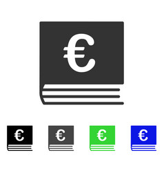 Euro bookkeeping flat icon vector