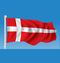Flag of denmark vector