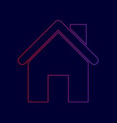 Home silhouette line icon vector