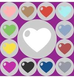 icons of heart vector image vector image