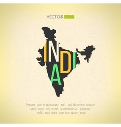 India map in vintage design indian border vector