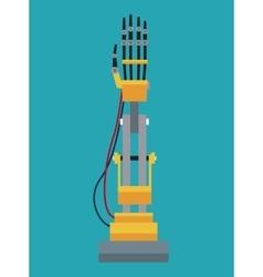 Industrial robot arm design vector