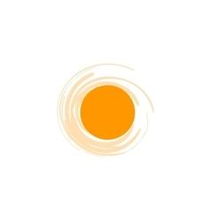 Isolated sun logo design template abstract vector