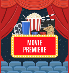 Movie premiere poster vector