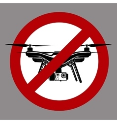 No fly zone airdrone quadrocopter vector