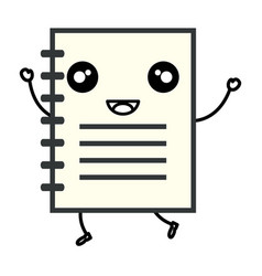 Note book school kawaii character vector