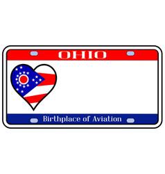 Ohio license plate vector