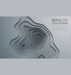 Paper cut banner concept paper carve abstract vector