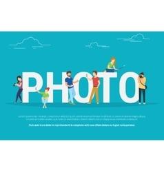 Photo concept vector image