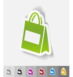 realistic design element bag vector image