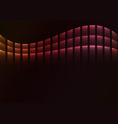 Red abstract pixel curve background vector