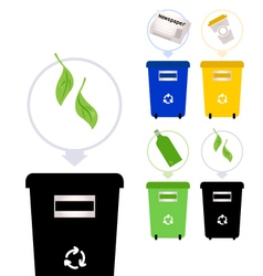 Separate Garbage collection isolated on white vector image vector image