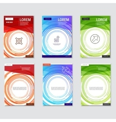 Set brochures templates with circular design vector image vector image