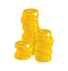 stack gold euro isolated cartoon vector image