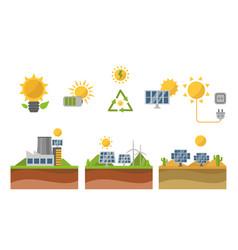 Sun solar energy power electricity technology vector