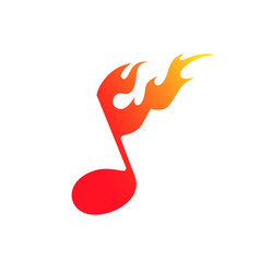 the symbol of fire and music vector image