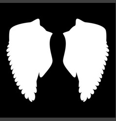 wing the white color icon vector image