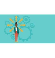 Woman choosing way vector image vector image