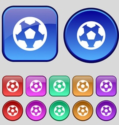 Football soccerball icon sign a set of twelve vector