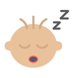 Baby boy sleep flat icon child and infant vector