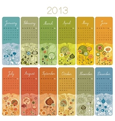 2013 Calendar Set vector image
