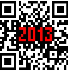 2013 New Year counter QR code vector image