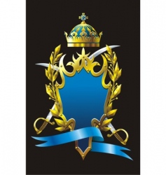 heraldry badge vector image