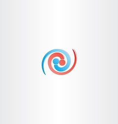 People connection spiral logo icon vector