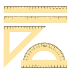 Rulers and protractor vector