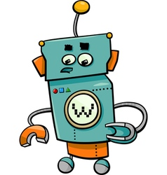 Comic robot cartoon character vector