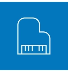Piano line icon vector