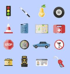 Auto transport motorist icons symbol vehicle vector
